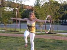 Joy shows us how to hula