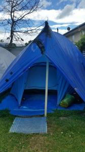 My hostel tent